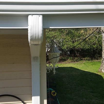 Professional Gutter Downspout After